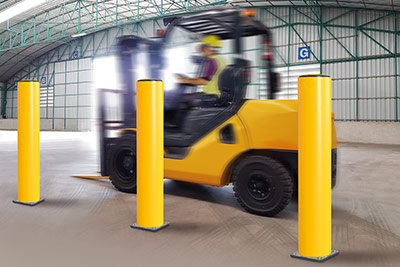 heavy duty bollards and forklift