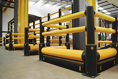 a-safe column protection guard rail