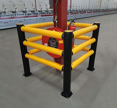 column guard rail protection