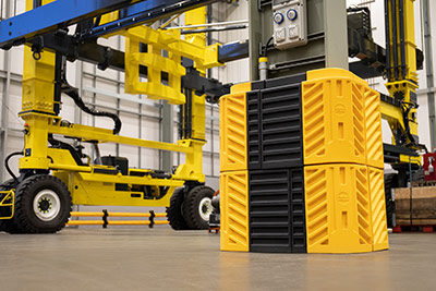 flexishield column guard fo crane support