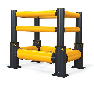 iflex forklift column protection guard rail