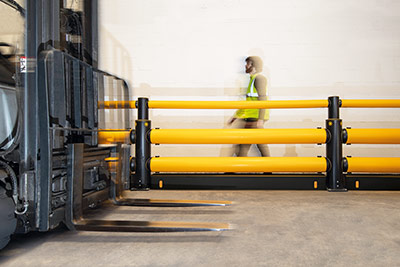 guard rails protection for personnel and forklifts