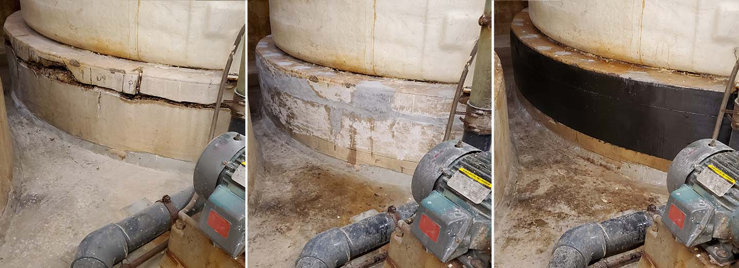 concrete strengthening wrap repair from prep to final