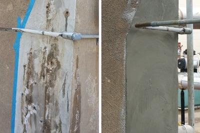 Concrete water leak sealing