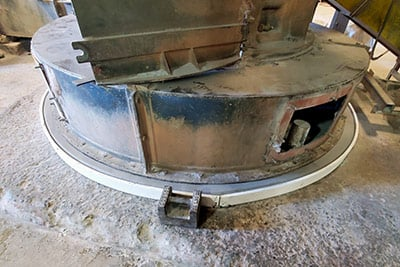 pulverizer baseplate grout repair