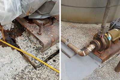 pump base concrete rebuild