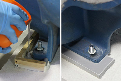 pump base plate chocking