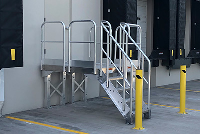 loading dock metal stairs