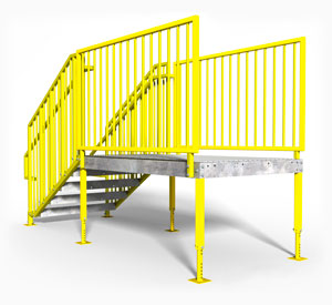 IBC OSHA compliant portable stairs direct entry
