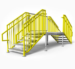 IBC OSHA compliant portable stairs multiple entry
