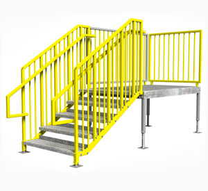 IBC OSHA compliant portable stairs right entry