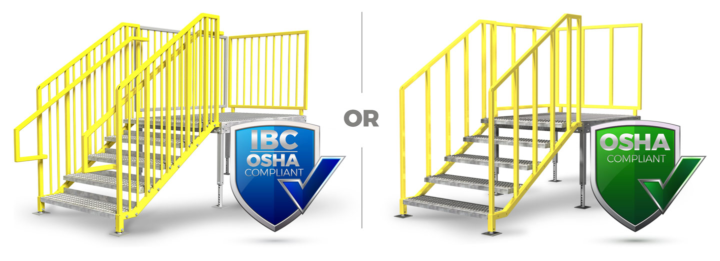 IBC OSHA Compliant Portable Stairs