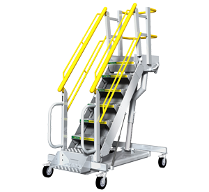 Rolling Stair Variable Height Work Platform