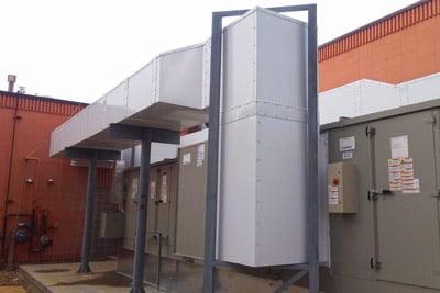 Dual Tech Exterior HVAC Duct Example