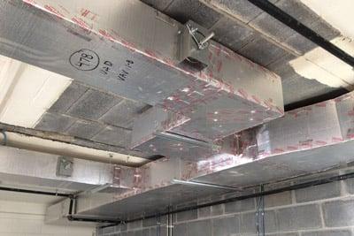 KoolDuct insulated interior HVAC duct