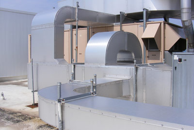 Techna-Duc exterior HVAC duct example