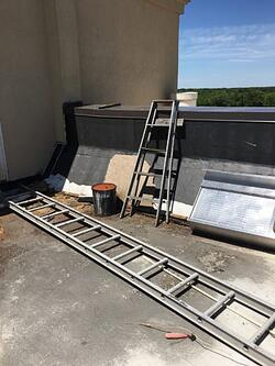 Badly damaged and unsafe ladder