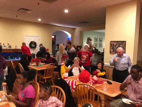 The Ronald McDonald House Holiday Party. Each year, the house in Camden supports about 800 families in need.