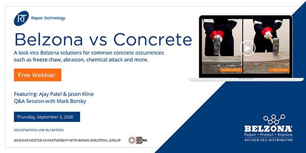 Belzona concrete solutions webinar video link thumbnail