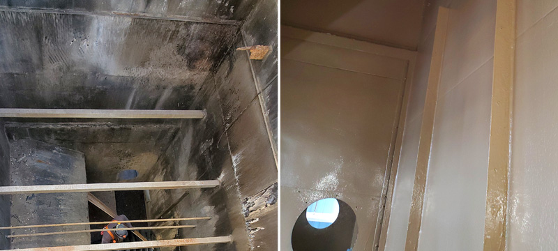 cooling tower basin coating service