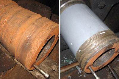 cooling tower fan shaft repair before and after