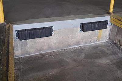 loading dock concrete repair example