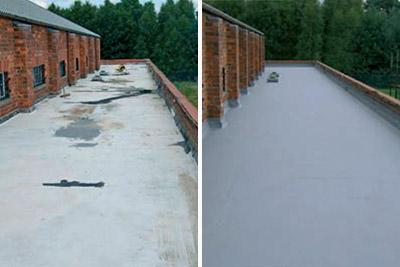 flat roof leak repair membrane