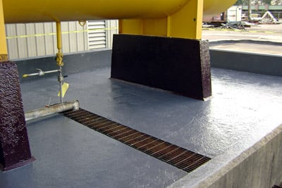 Chemical resistant containment area coating