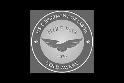 2020 Gold HIRE Vets Medallion Award