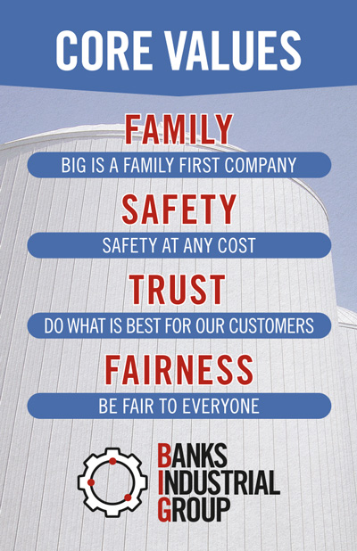 Banks Industrial Group Core Values