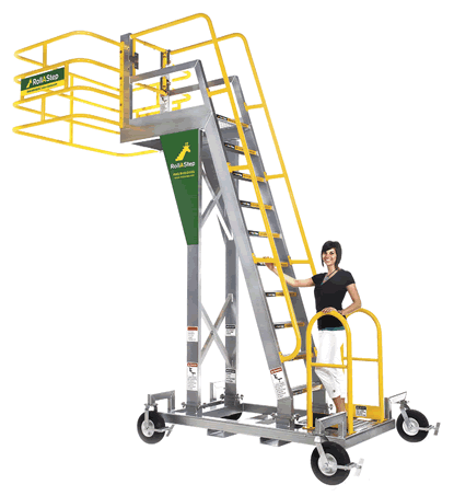 RollaStep Mobile Cantilever Work Platforms Reach Over Tanker Trucks