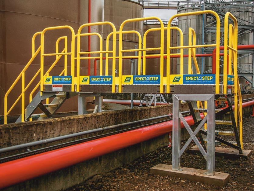 erectastep crossover stairs and industrial platforms