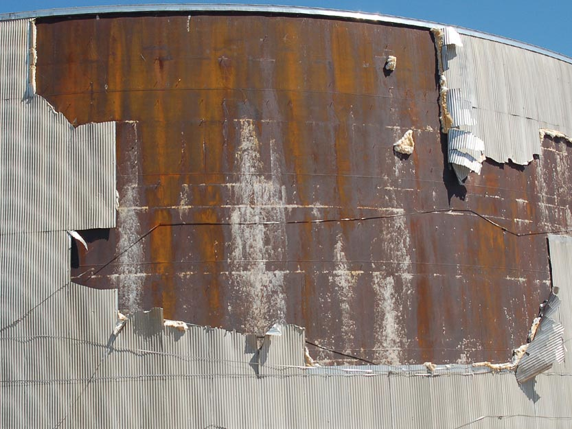 storage tank insulation repair