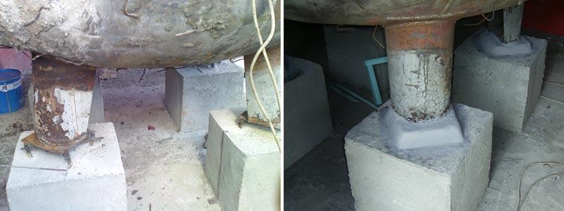 pipe support repair