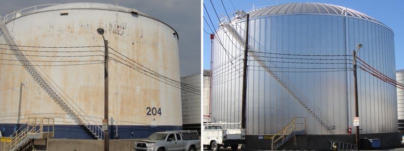 storage tank insulation system