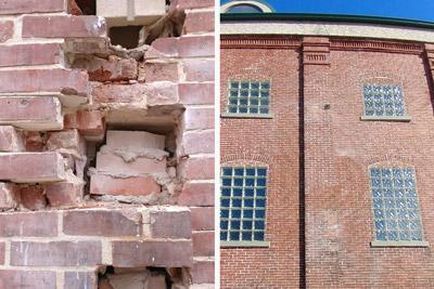 brick repair example
