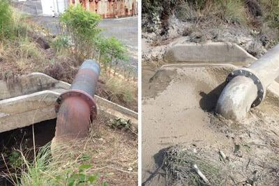 Gunite used to repair concrete spillway