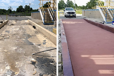 loading area acid resistant concrete coating