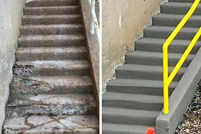 Concrete Step Repair
