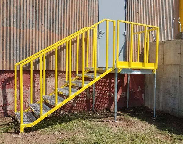 erectastep osha portable stair at warehouse