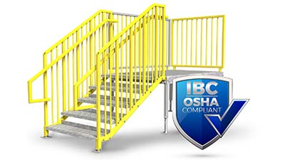 ibc compliant portable stairs by erectastep