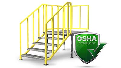 osha compliant portable stairs by erectastep