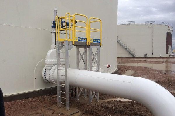 Industrial Maintenace Platform Ladder