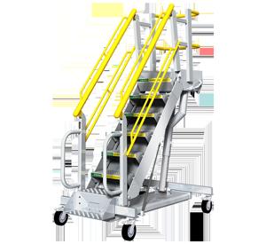 Rolling Stair Variable Height Work Platform