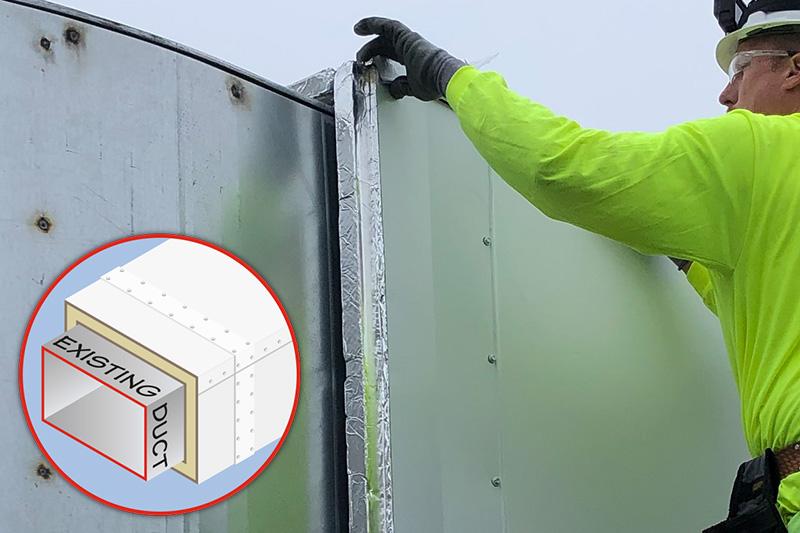 Techna-Duc HVAC Duct Insulation Construction