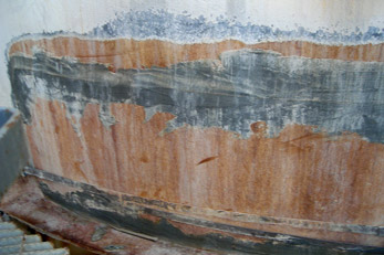 Corroded Water Holding Tank Repair