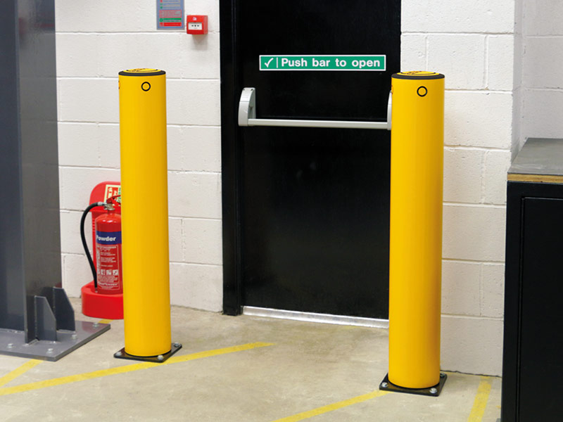 Bollards Protect Fire Exit From Forklift Damage