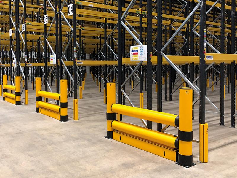 Pallet Rack Leg Protectors and Rack End Guard