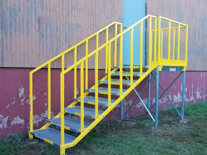 Portable Stairs at Warehouse Loading Dock