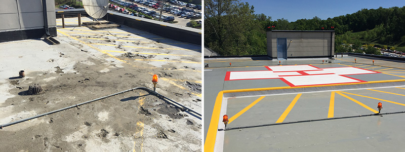 Helicopter Pad Concrete Repair